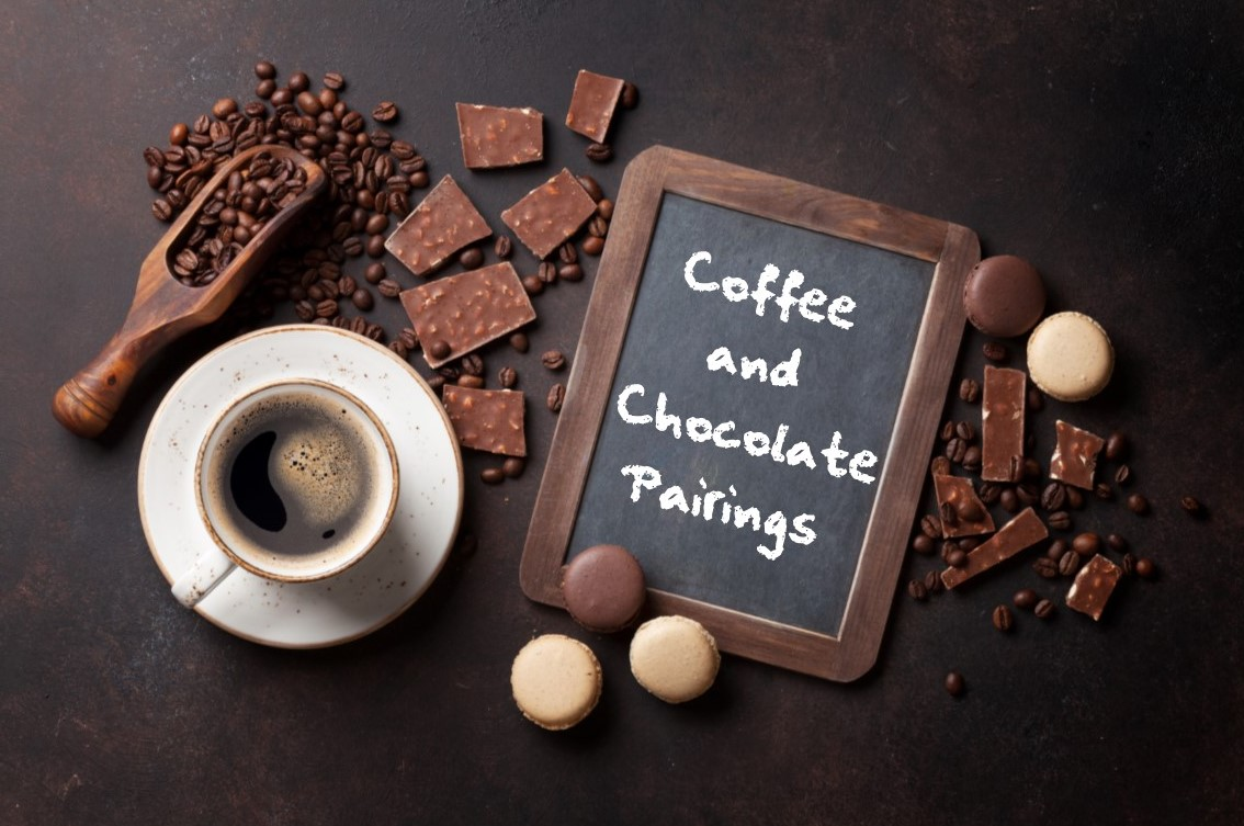 coffee, chocolate, and pistachio pairings