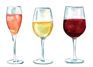 types of glasses for wine