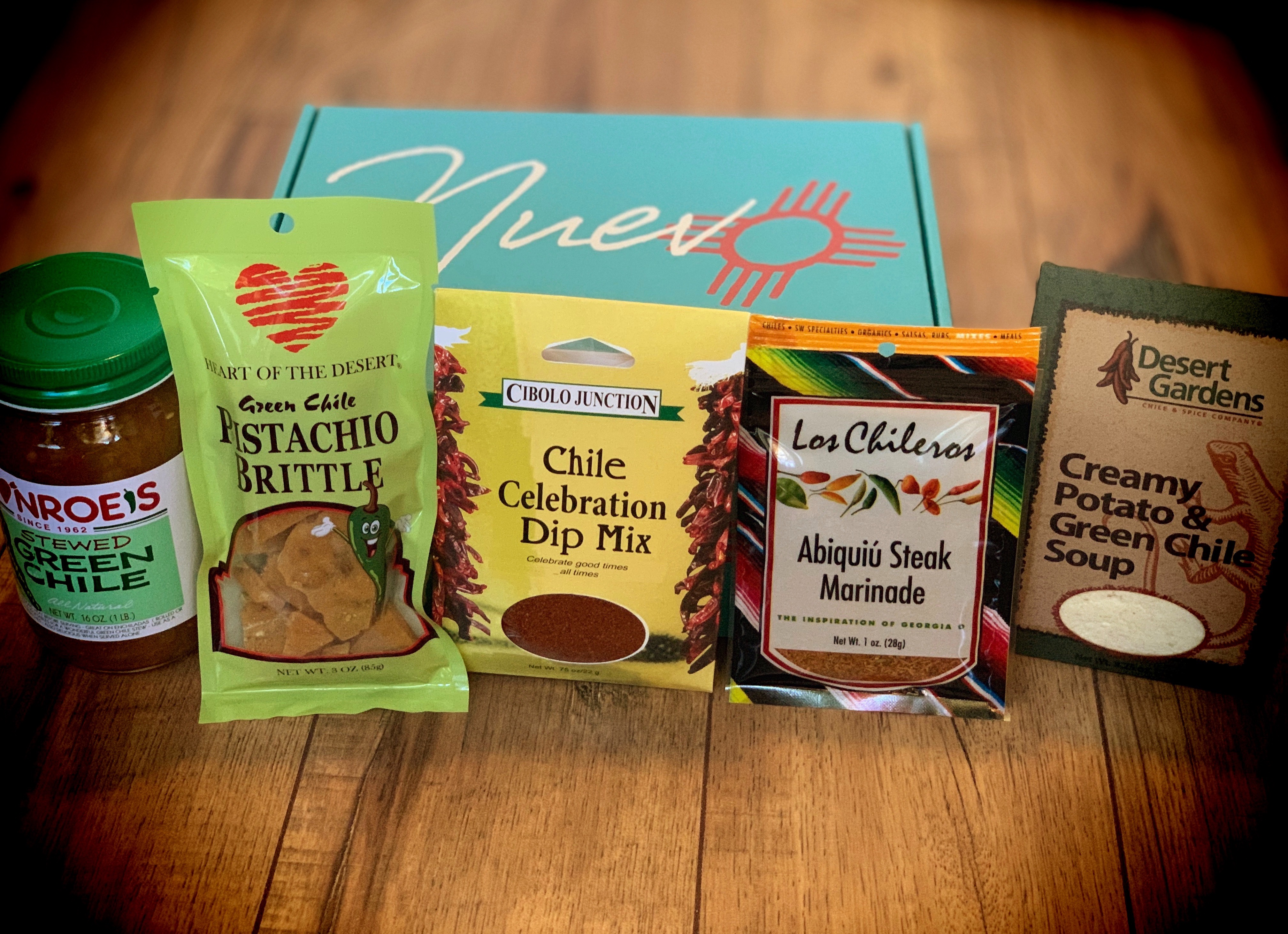 new mexico snack and food subscription box with heart of the desert pistachio brittle and more